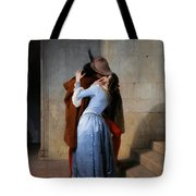 Hayez, The Kiss Tote Bag