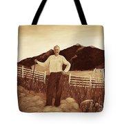 Haymaker With Pitchfork Vintage Tote Bag