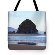 Haystack At Cannon Beach In June Tote Bag