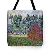Haystack At Giverny, 1885 Tote Bag