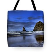 Haystack Rock And The Needles Tote Bag