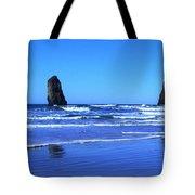 Haystack Rock Panoramic Tote Bag