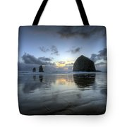 Haystacks At Sunset Tote Bag