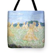 Haystacks The Young Ladies Of Giverny Sun Effect Tote Bag