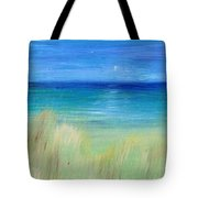 Hazy Beach Mini Oil On Masonite Tote Bag