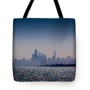 Hazy Chicago Tote Bag