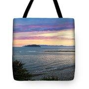 Hazy Evening Sunset Tote Bag