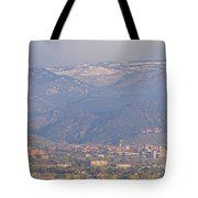 Hazy Low Cloud Morning Boulder Colorado University Scenic View  Tote Bag by James BO  Insogna