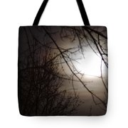Hazy Moon Through The Trees Tote Bag