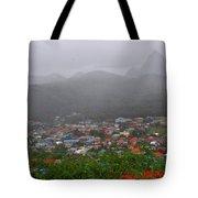 Hazy Pitons Tote Bag