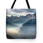 Hazy Veysonnaz Tote Bag
