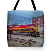 Hdr Fun With Trains Tote Bag