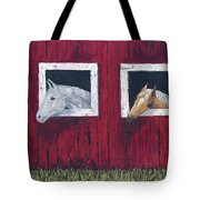 He And She Tote Bag by Kathryn Riley Parker