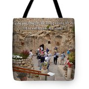 He Is Not Here Tote Bag