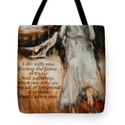 I Am With You - Footprints Tote Bag
