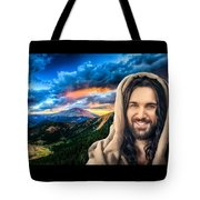 He Watches Over Me Tote Bag