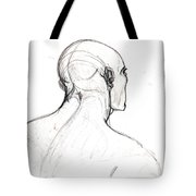 Head, Back View Tote Bag