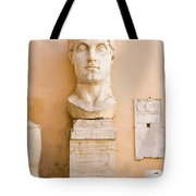 Head From The Statue Of Constantine, Rome, Italy Tote Bag
