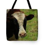 Head Of A Bull On A Farm Tote Bag