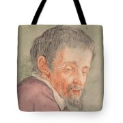 Head Of A Man With A Short Beard Tote Bag