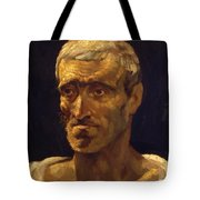 Head Of A Shipwrecked Man Study For The Raft Of Medusa 1819 Tote Bag
