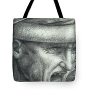 Head Of A Warrior, Copy Of A Detail From The Battle Of Anghiari Tote Bag