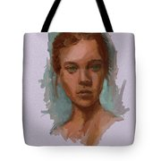 Head Of A Woman Study Tote Bag