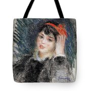Head Of A Young Woman - 1878 -1880 Pierre-auguste Renoir Tote Bag