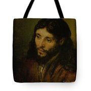 Head Of Christ Tote Bag by Rembrandt