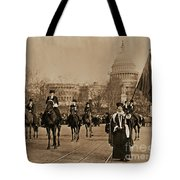 Head Of Washington D.c. Suffrage Parade Tote Bag
