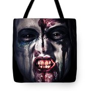 Head Shot On A Pure Evil Zombie Girl Tote Bag