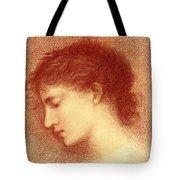 Head Study Of Maria Zambaco The Wine Of Circe Tote Bag
