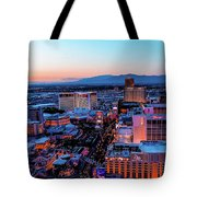 Heading North On The Strip Tote Bag