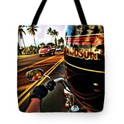 Heading Out On Harley Tote Bag