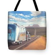 Heading South Towards Monument Valley Tote Bag