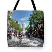 Heading To Camp Randall Tote Bag