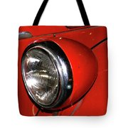 Headlamp On Red Firetruck Tote Bag