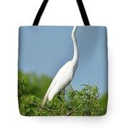 Headless Great Egret Tote Bag