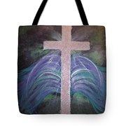 Healing In His Wings Tote Bag