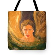 Healing With The Golden Light Tote Bag