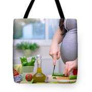 Healthy Nutrition For Pregnant Woman Tote Bag