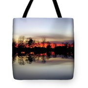Hearns Pond Silhouette Tote Bag