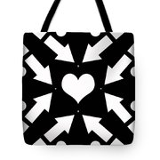 Heart And Arrows Tote Bag