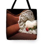 Heart And Rose Victorian Style Tote Bag