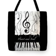 Heart And Soul - Music In Motion Tote Bag