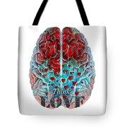 Heart Art - Think Love - By Sharon Cummings Tote Bag