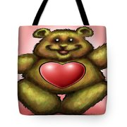Heart Bear Tote Bag