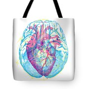 Heart Brain Tote Bag