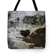 Heart Carved In Tree Tote Bag