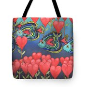 Heart Fish Tote Bag